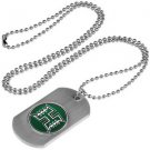 Hawaii Warriors Dog Tag with a embedded collegiate medallion