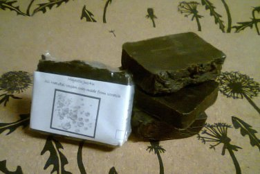 Herbal Pine Tar Homemade_Handmade bar soap NO animal made ingredients