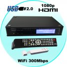 1080P HD Media Tank - Media Network SATA HDD Enclosure with WiFi
