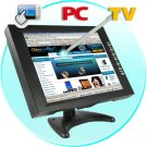 12 Inch LCD Touch Screen Monitor for Computers, TV + DVD Player
