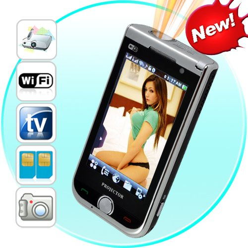 Mega Phone - Quadband, 2 SIM, WiFi, 3.2 Touchscreen + Projector