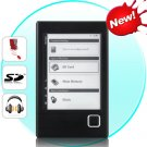 Harmony eBook Reader with 6 Inch e-ink Display + MP3 Player