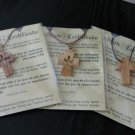 12 Olive Wood Cross Pendant Necklaces