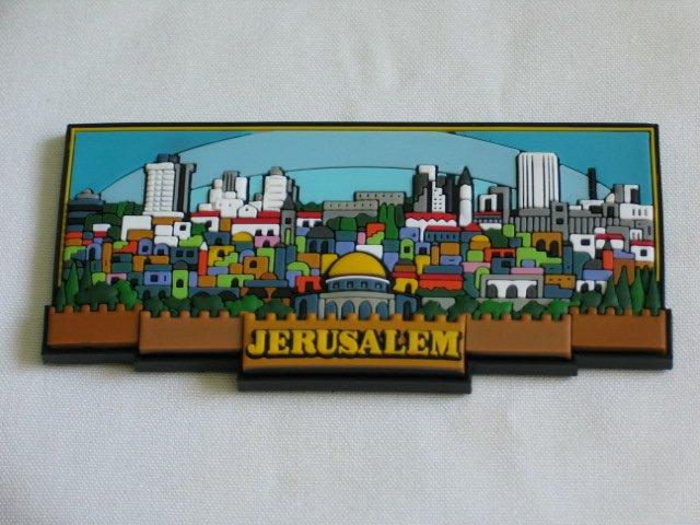 Israel 3D Magnet Jerusalem Skyline