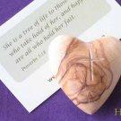 Jerusalem Olive Wood Carved Heart/Cross & Gift Bag