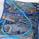 Combo -  2  in 1 Multi Colored Blue Purse Handbag Sling