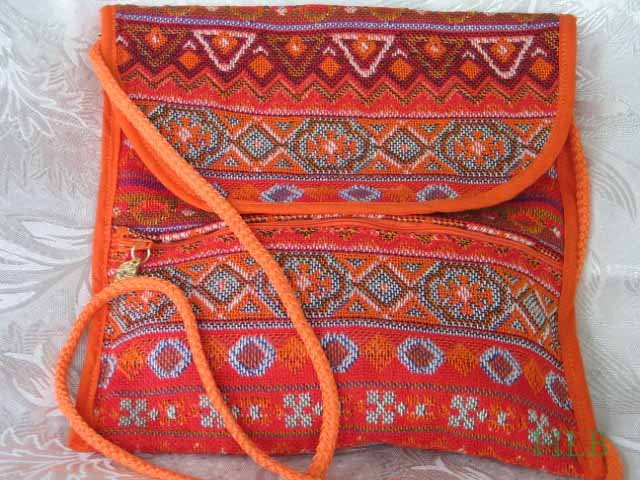 Combo -  2  in 1 Multi Colored Orange  Purse Handbag Sling