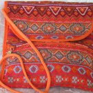 Combo -  2  in 1 Multi Colored Orange  Purse Handbag Sling