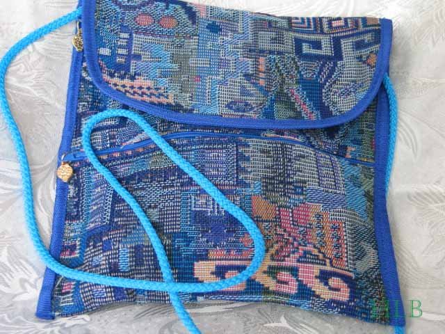 Combo -  2  in 1 Multi Colored Blue Purse Hangbag Sling  B