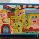 Jewelry Box  Emanuel Wood Hand Painted Small 'Jerusalem''