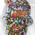 Hamsa - Yair Emanuel's  Glass Hand Painted Small  'Animals'