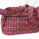 Nava -  Elegant Woven Orange  Fabric 4 Pockets Shoulder Handbag