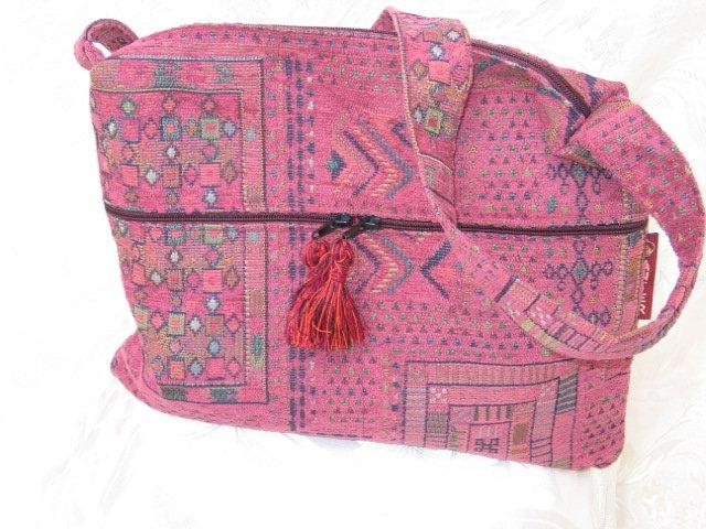 Asil -  Ethnic Woven Pink Shoulder Tote / Handbag
