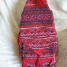 Backpack - Ethnic Fabric Red / Multi-Color Woven Tote / Shoulder Bag M11
