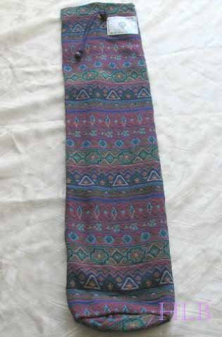 Shofar Bag  Ethnic Woven Fabric Purple  Medium Size -- M6