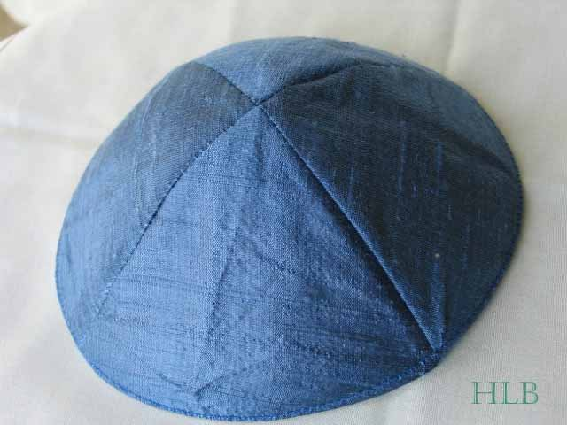 Kippa Raw Silk Emanuel Powder  Blue YAR1