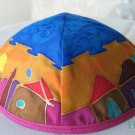Kippa Emanuel Hand Painted Silk Multi-Color  -- YAS6