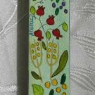Mezuzah Emanuel Wood Large  Hand Painted Seven Species -- MZL6