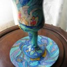 Kiddush Cup Emanuel Hand Painted Wood Exodus -- CU12
