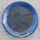 Round Dish Andreas Meyer Fused Decorative Glass - Lagoon