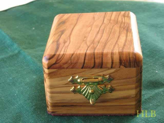 Jewelry Box Olive Wood Keepsake  Medium