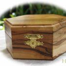 Jewelry Box Olive Wood Keepsake  Hexagonal