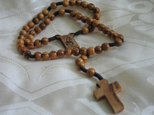 Olive Wood Bethlehem Holy Land Rosary Fatima