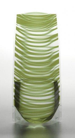 Vazu Expandable Portable Decorative Olive Green Flower Vase