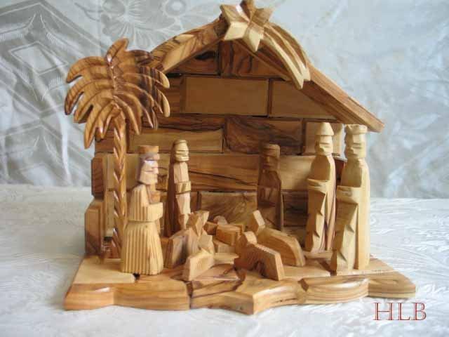 Large Olive Wood Nativity Scene