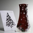 Vazu Expandable Portable Decorative 'Holiday Red' Flower Vase
