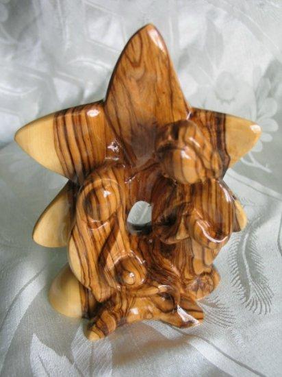 Holy Family Olive Wood Bethlehem Star 02