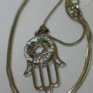 Silver Star of David And Hamsa Necklace