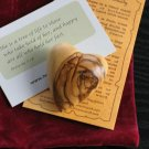 Jerusalem Olive Wood Carved Heart/Cross & Gift Bag
