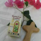 Olive Wood Comfort Cross and Bottle of Spikenard Anointing Oil