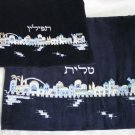 Yair Emanuel Velvet Embroidered Tallit Talit Tfillin Bag Set -- TV/FV2