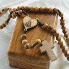 Olive Wood Rosary With Bethlehem Keepsake Jewelry Olive Wood Box