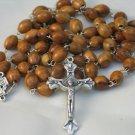 Olive Wood & Pewter Bethlehem Holy Land Rosary