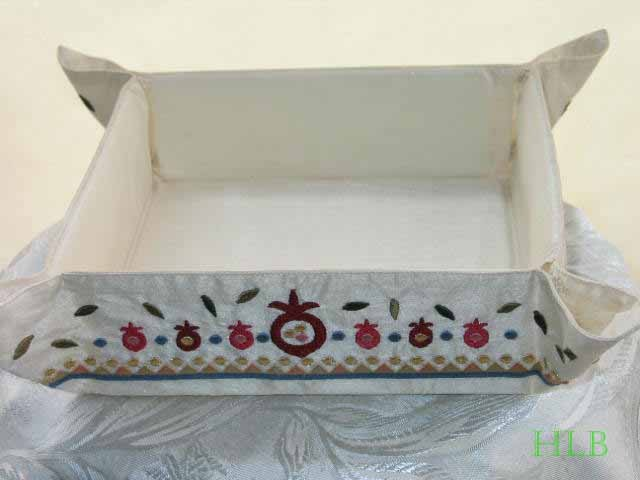 Matzah Tray With Pomegranate Design MB-2