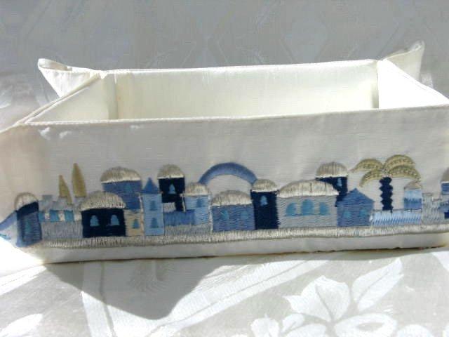 Matzah Tray With Oriental Jerusalem Design MB-5