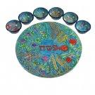 Emanuel Seven Species Seder Plate and Six Small Bowls SP-3