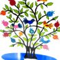 Emanuel Laser Lazer Cut Hand Painted Pomegranate Tree Sculpture LCT