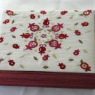 Silk Embroidered Emanuel Jewelry Box Pomegranate Design