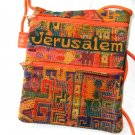 Orange Square Purse With Jerusalem Logo