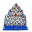 Emanuel Painted Lazer Cut Menorah - Moroccan Pomegranate Tree HML2