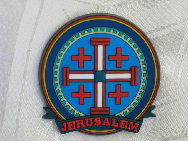 3D Fridge Magnet  Jerusalem Cross