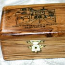 Olive Wood Large Holy Sepulcher Jewelry / Keepsake Box