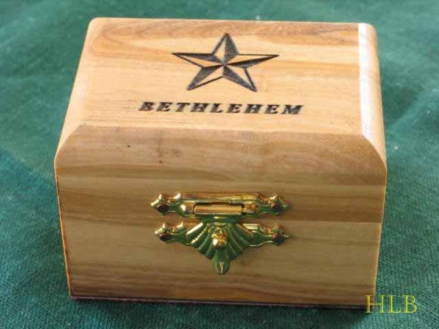 Olive Wood Jewelry Keepsake Box Bethlehem Sm