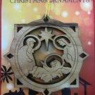 Olive Wood Bethlehem Holy Family Christmas Tree Ornament 8