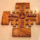 Olive Wood Jerusalem Cross Holy Land Inspiration - God Bless Our Home