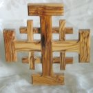 Jerusalem Cross Crusaders Olive Wood From Holy Land